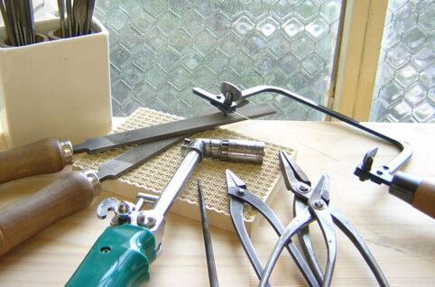 並んだ工具