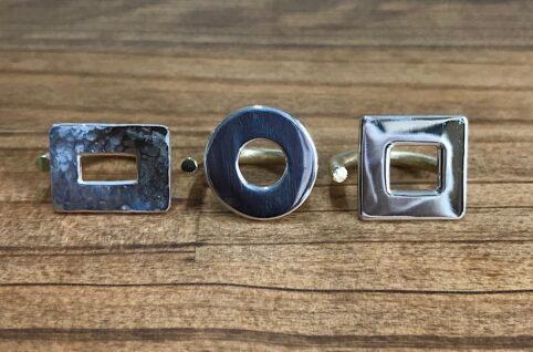 シルバーと真鍮のリング